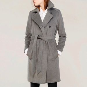 NWOT Everlane wool/cashmere coat s small gray